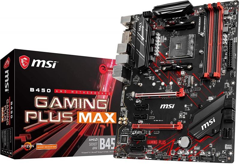 MOTHERBOARD AMD  B450 MSI GAMING PLUS MAX