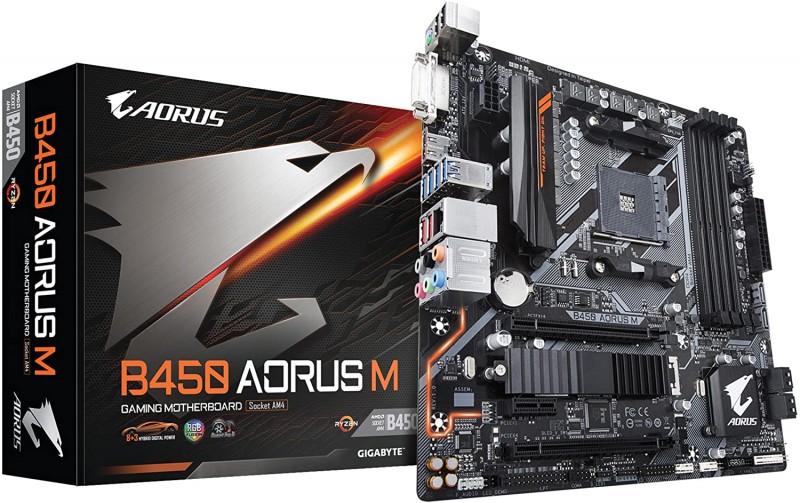 MOTHERBOARD AMD AM4 GIGABYTE B450 AORUS M