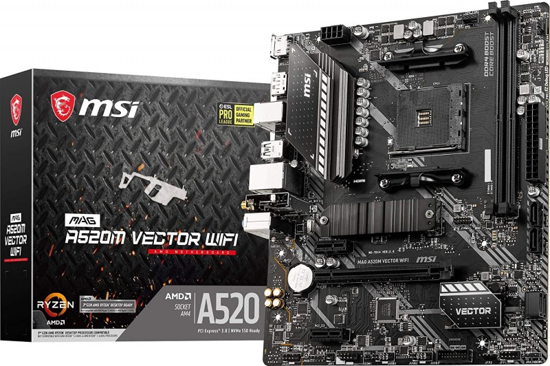 MOTHERBOARD AMD AM4 MSI MAG A520M VECTOR WIFI