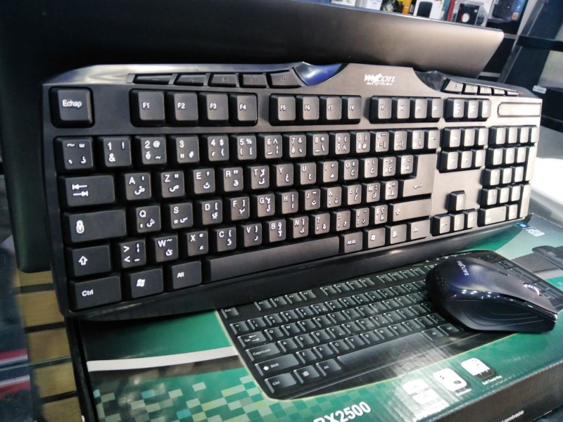 KEYBOARD + MOUSE WIRELESS ICON BX2500