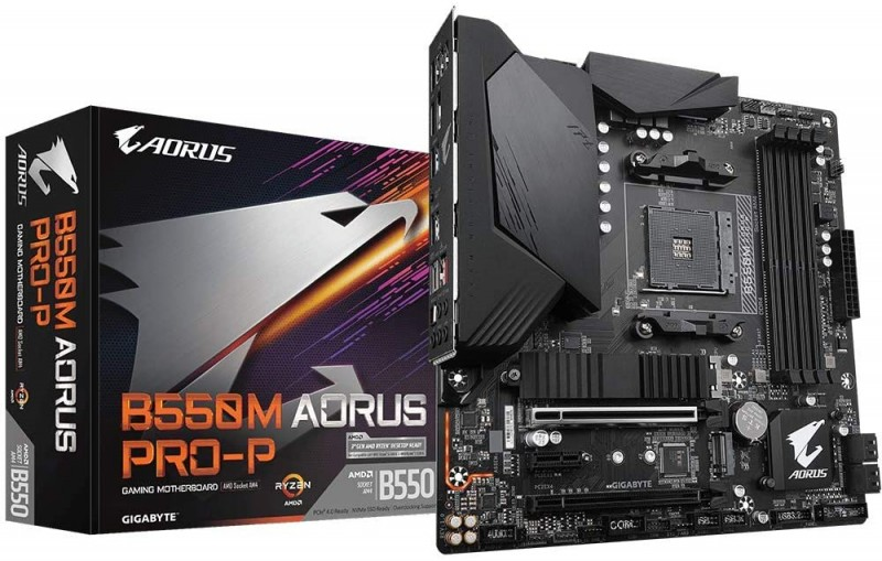 MOTHERBOARD AMD GIGABYTE B550M AORUS PRO-P