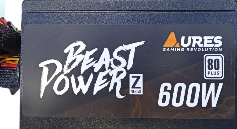 POWERSUPPLY AURES BEAST POWER Z 600WTT 80+