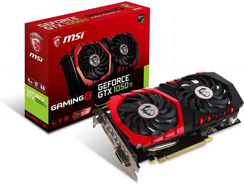 GPU NVIDEA MSI GTX 1050TI 4GB GAMING X