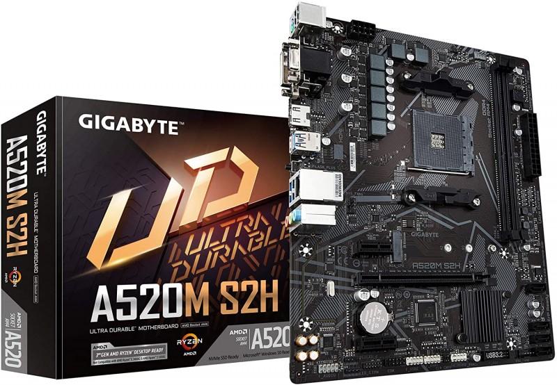 MOTHERBOARD AMD GIGABYTE A520M-S2H