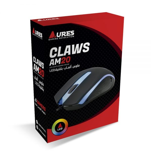 MOUSE USB AURES CLAWS AM20 GAMING LED