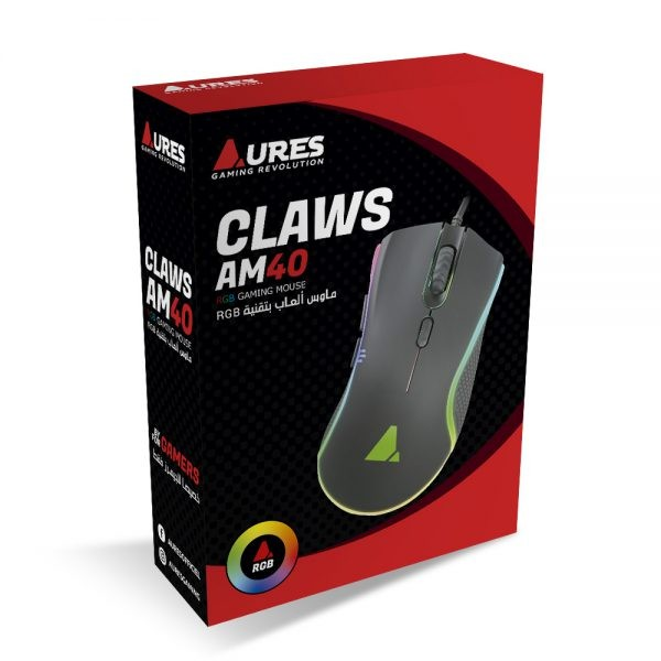 MOUSE USB AURES CLAWS AM40 GAMING RGB