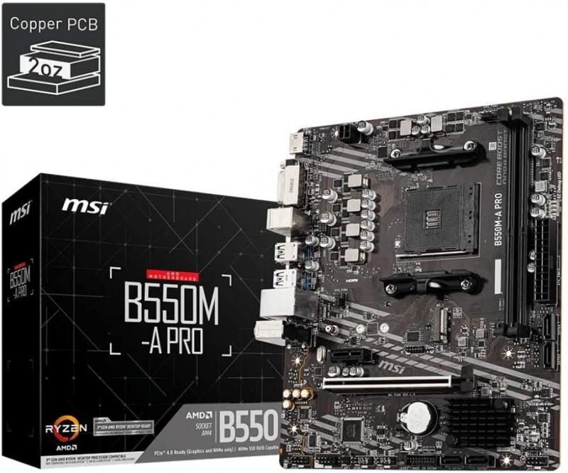 MOTHERBOARD AMD MSI B550M A PRO