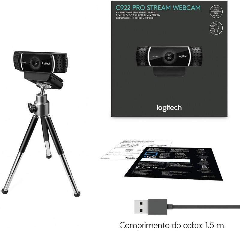 WEBCAM LOGITECH PRO C922 AUTOFOCUS 1080