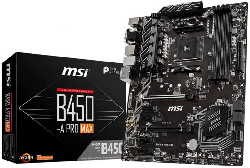 MOTHERBOARD AMD MSI B450-A PRO MAX ATX