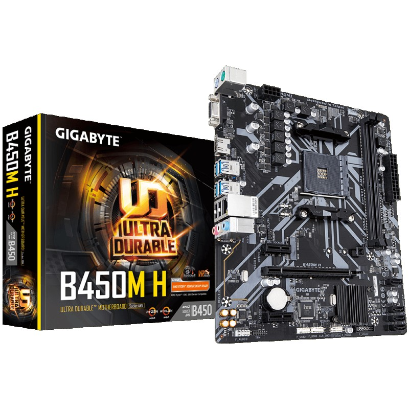 MOTHERBOARD AMD AM4 GIGABYTE B450M H