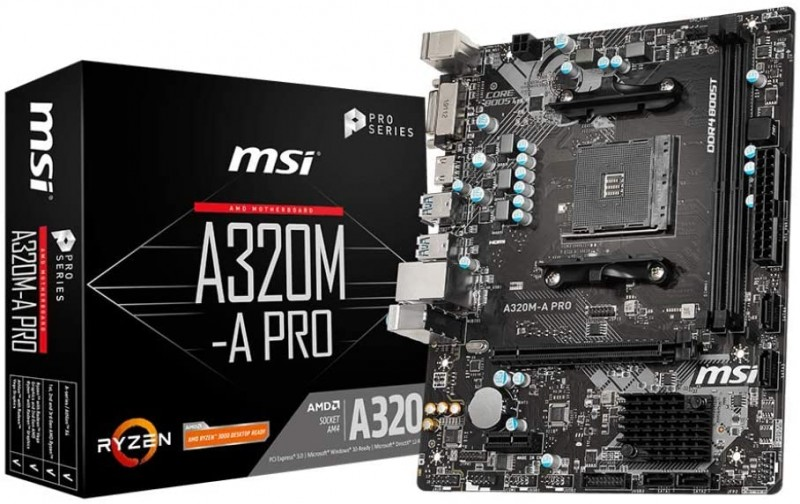MOTHERBOARD AMD MSI A320M-APRO