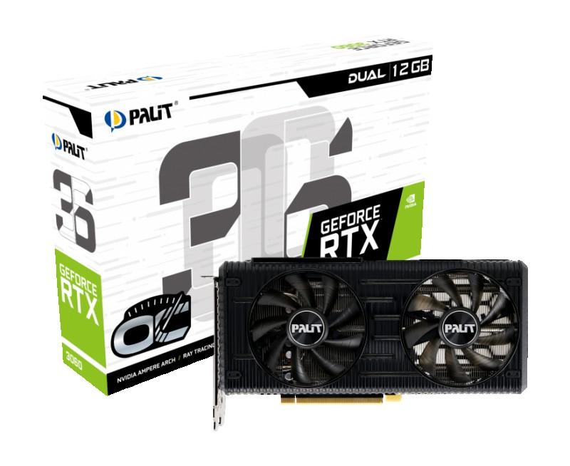 GPU NVIDIA PALIT RTX 3060 12GB DUAL OC
