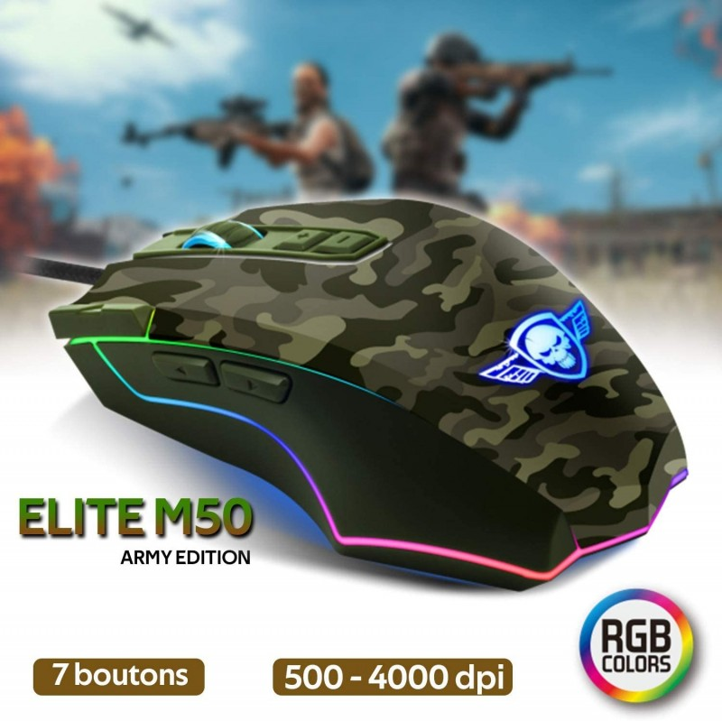 MOUSE SPIRIT OF GAMER ELITE M50 ARMY EDITION