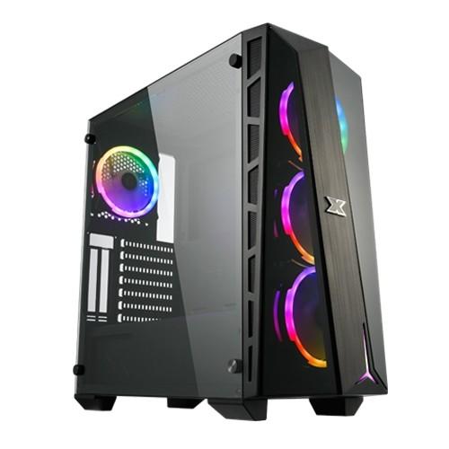 CASE XIGMATEK ATX CYCLOPS TG RGB CY12 FANSX4